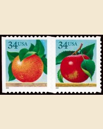 #3491S- 34¢ Apple, Orange