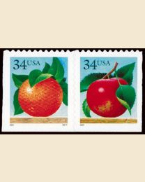 #3493S- 34¢ Apple, Orange