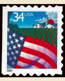 #3495 - 34¢ Flag over Farm