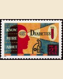 #3503 - 34¢ Diabetes Awareness