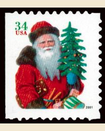 #3543 - 34¢ Santa Red Suit with Hat
