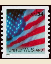 #3550A- 34¢ United We Stand
