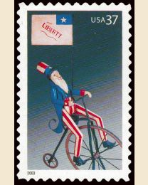 #3776 - 37¢ Uncle Sam on Bicycle