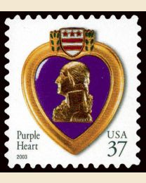 #3784 - 37¢ Purple Heart