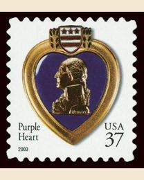 #3784A- 37¢ Purple Heart