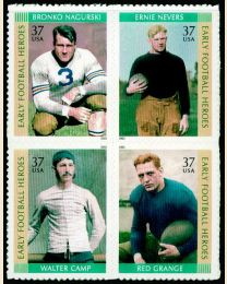 #3808S- 37¢ Early Football Heroes