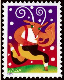 #3824 - 37¢ Reindeer with Horn