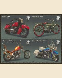 #4085S- 39¢ American Motorcycles