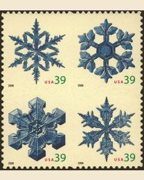 #4101S- 39¢ Snowflakes - USA higher than 2006
