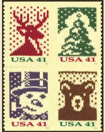 #4211S- 41¢ Christmas Knits (small size)