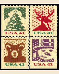 #4215S- 41¢ Christmas Knits (thin paper)