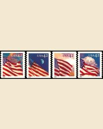 #4244S- 42¢ Flags
