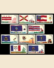 #4283S- 42¢ Flags (2) - DC to Kansas