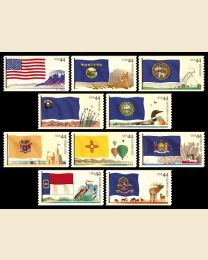 #4303S- 44¢ Flags (4) Montana - North Dakota