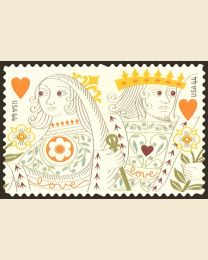 #4404S- 44¢ Love - King & Queen of Hearts