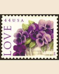#4450 - 44¢ Love: Pansies in a Basket