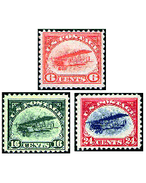 First U.S. Airmail Postage Stamps