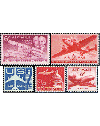 50 Mint US Airmails