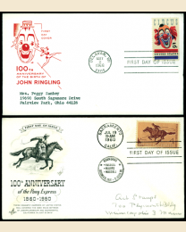 100 First Day Covers