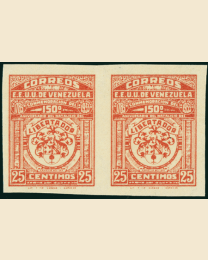 Venezuela Imperforate Pair