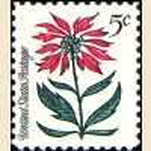 #1256 - 5¢ Poinsettia