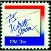 #1810 - 15¢ Write Soon red