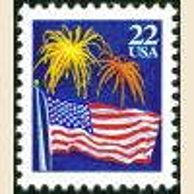 #2276 - 22¢ Flag & Fireworks