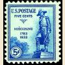 # 734 - 5¢ General Kosciuszko