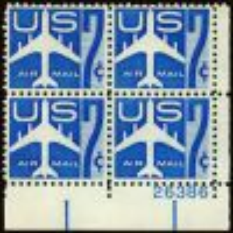 #C51 - 7¢ Jet Liner: Plate Block