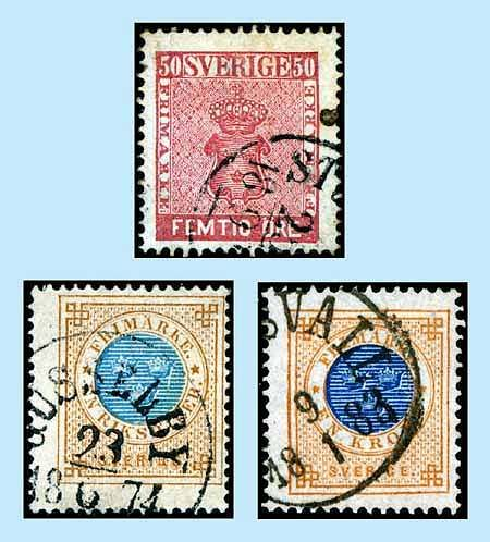 1858 1878 Trio Of Sweden High Values Buy All 3 And Save 35