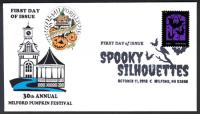"""Spooky Silhouettes"" Halloween FDC"