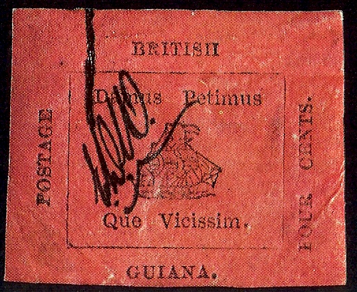 British Guiana 4 cent black on magenta