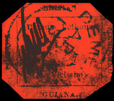 British Guiana 1 cent black on magenta