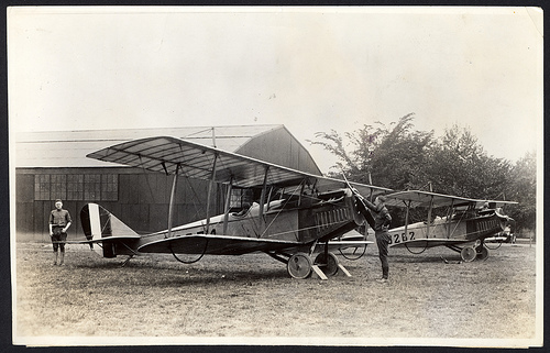 Airmail Delivery with Curtiss Jenny Airplanes