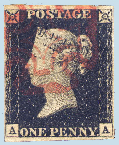 Great Britain Penny Black Worlds First Stamp