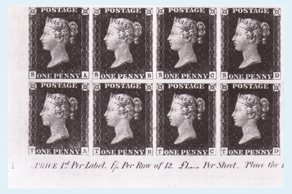 Penny Black Block of 8