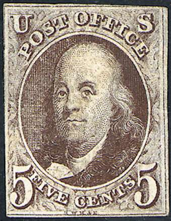 US #1 First postage stamp