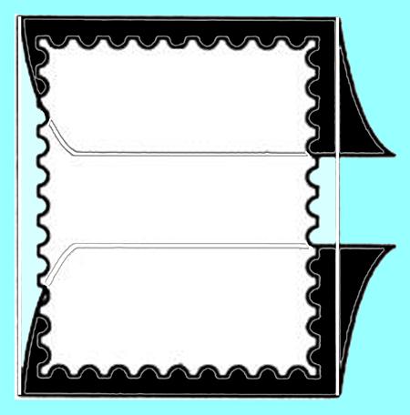 Split back stamp mount