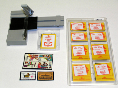 Stamp Mount Assortment and Mount Cutter