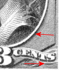 3 cent re-engraved